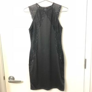 NWOT H&M Black Dress with Lace